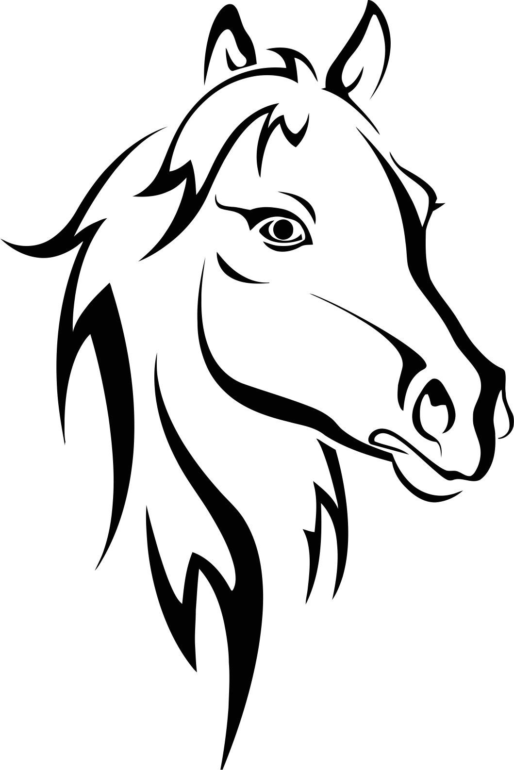 Horse Stencil Free CDR Vectors Art