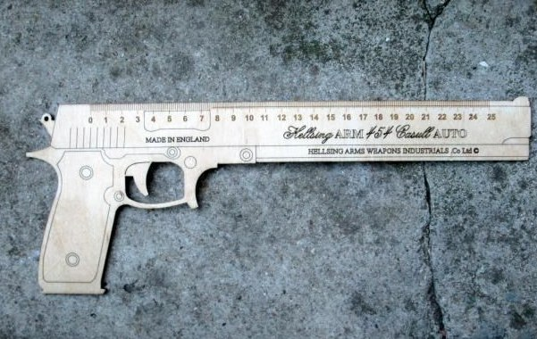 gun-shaped Ruler Free CDR Vectors Art