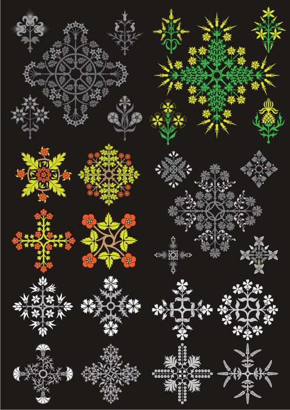 Floral Design Ornament Pack Free CDR Vectors Art