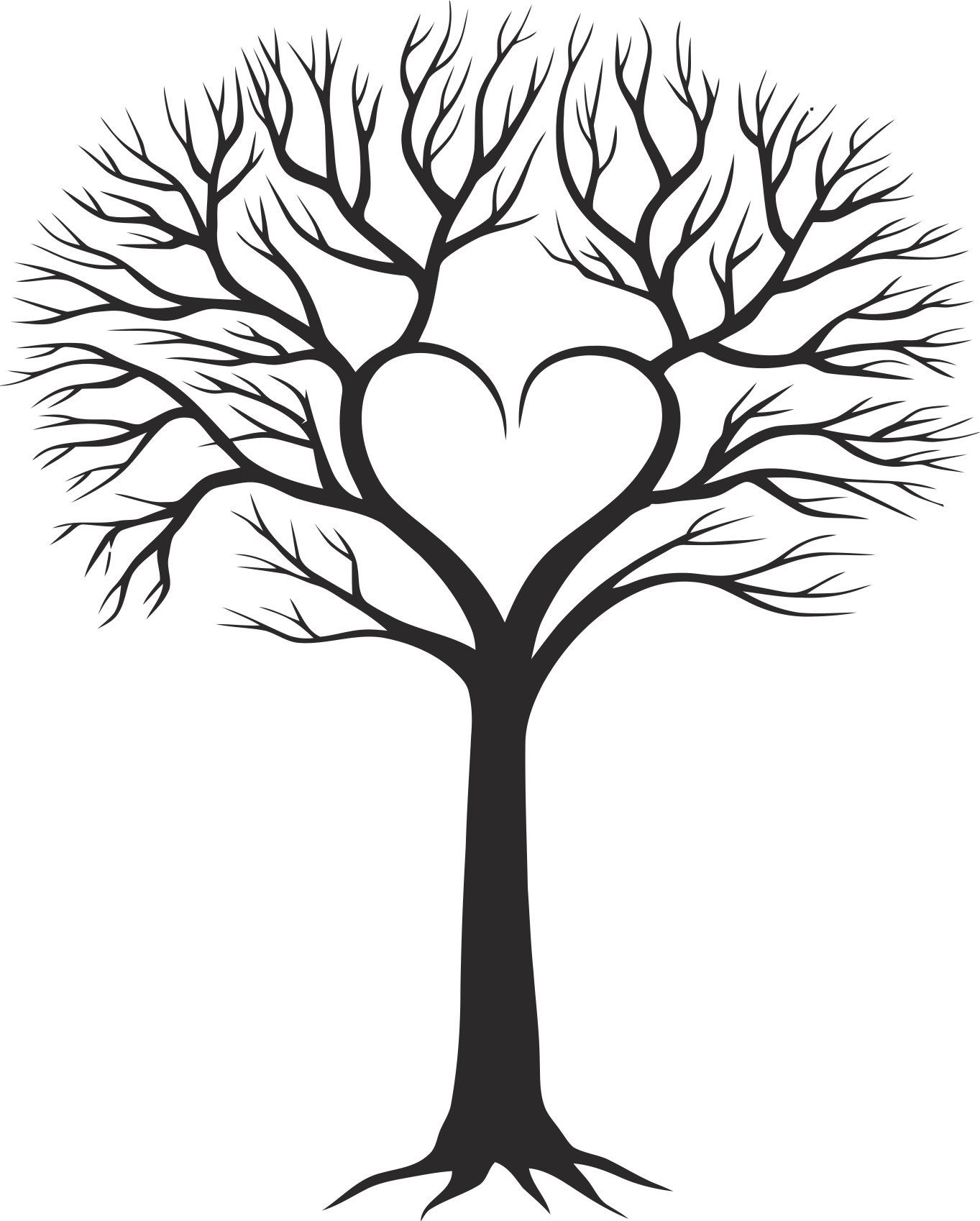 Family Tree With Heart Free CDR Vectors Art
