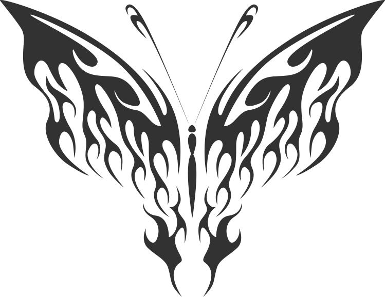 Decorative Ornamental Butterfly Silhouette Free CDR Vectors Art