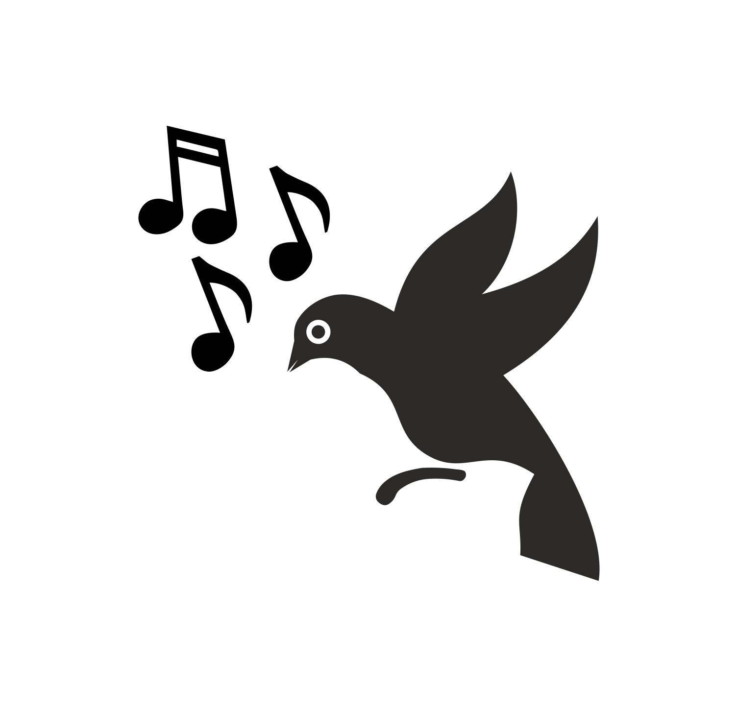 Bird Silhouette Music Free CDR Vectors Art