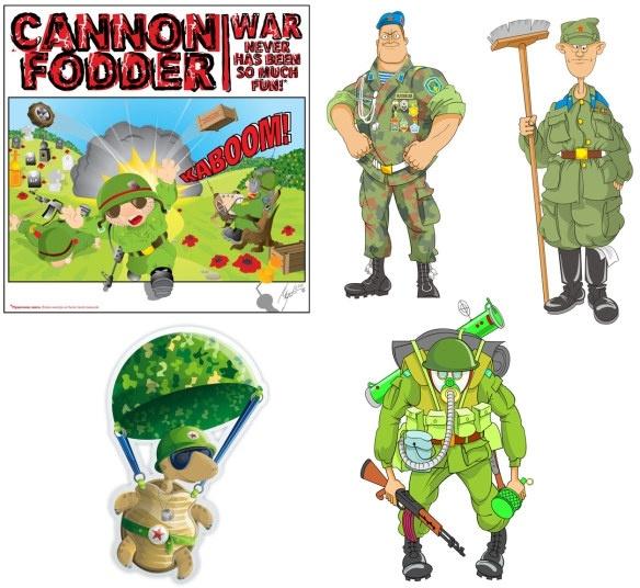 Cartoon soldier Free CDR Vectors Art