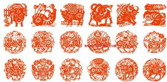 Year of the ox papercut Free CDR Vectors Art