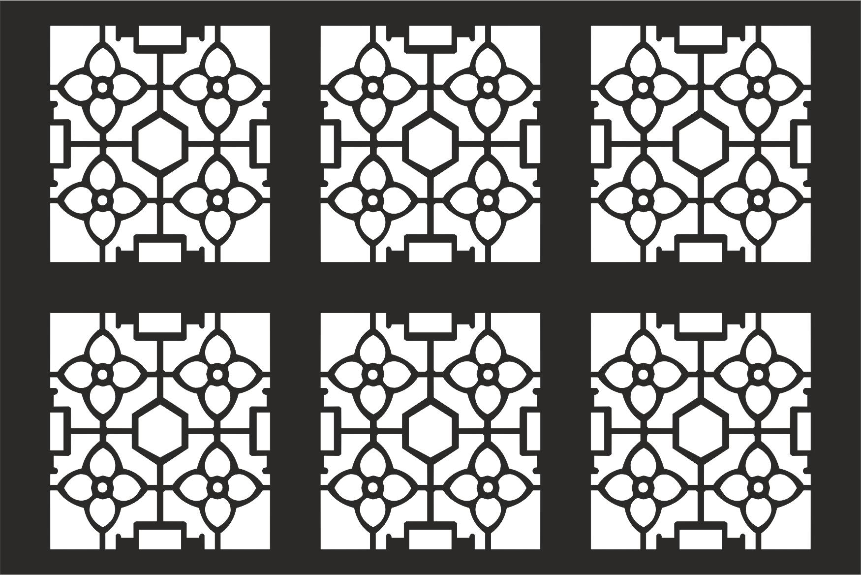 Decorative Grille Pattern Free CDR Vectors Art