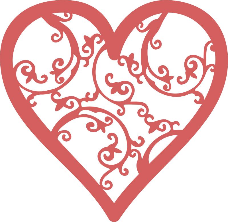 Filigree Heart Free CDR Vectors Art