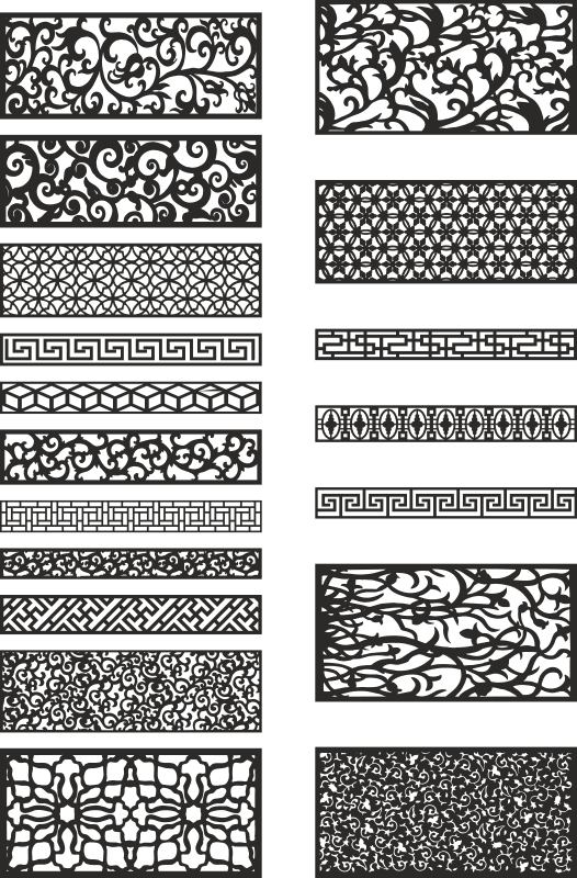 Patterns for Laser Cutting Free CDR Vectors Art