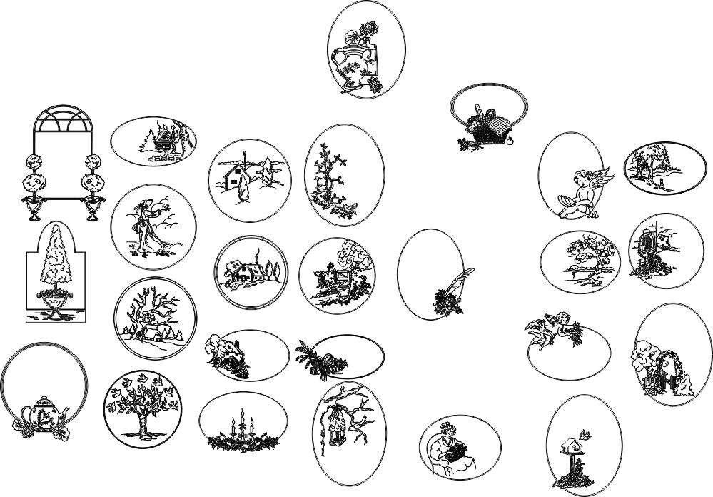 Flower Line Drawing Free CDR Vectors Art