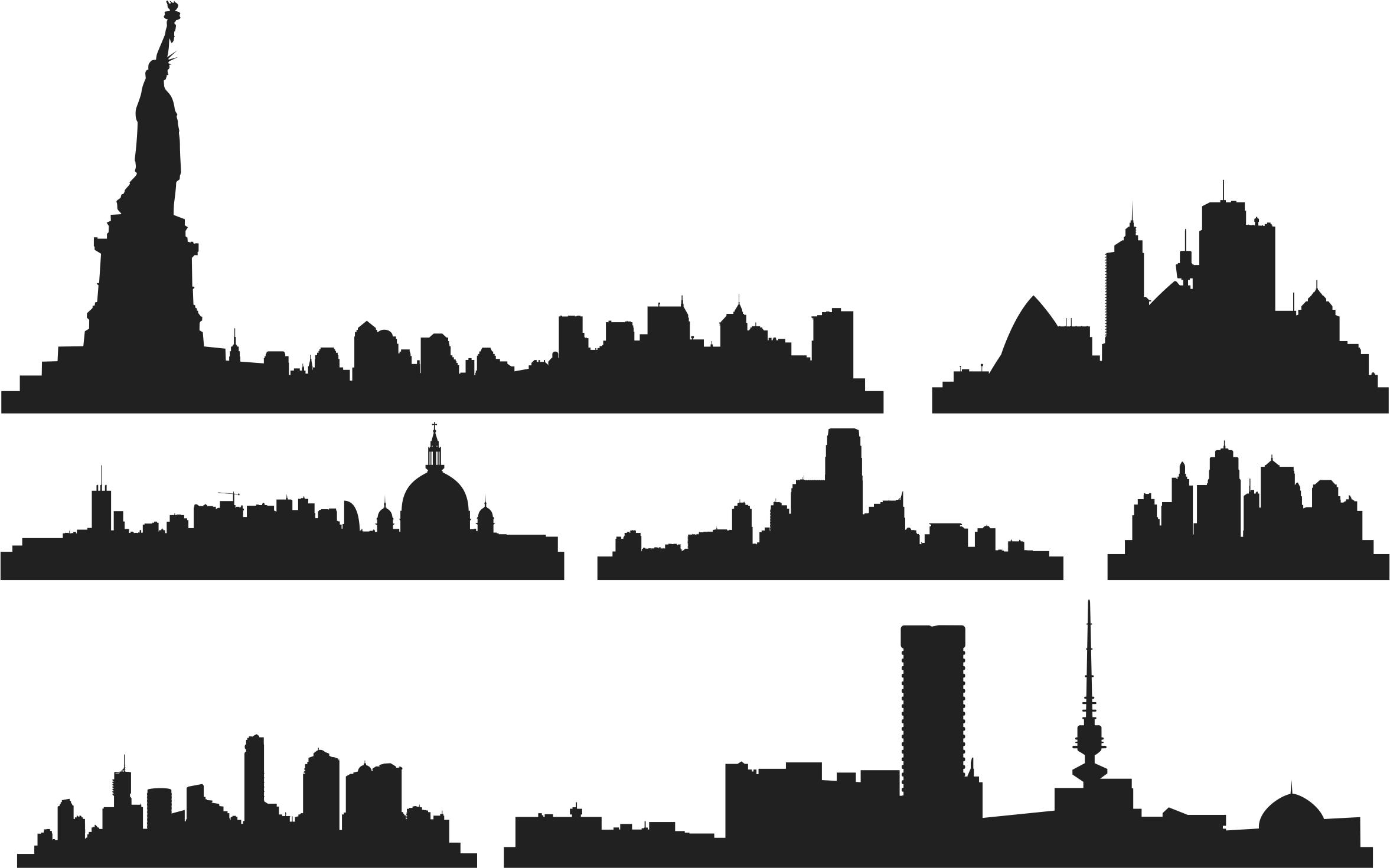 City Skylines Building Free CDR Vectors Art