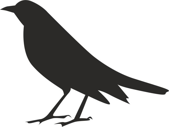 Halloween Crow Silhouette Free CDR Vectors Art