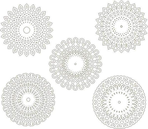 Circular arabesques v1 Free CDR Vectors Art