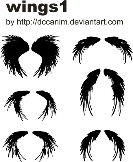 Dccanim_wings1 Free CDR Vectors Art