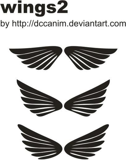 Dccanim_wings2 Free CDR Vectors Art