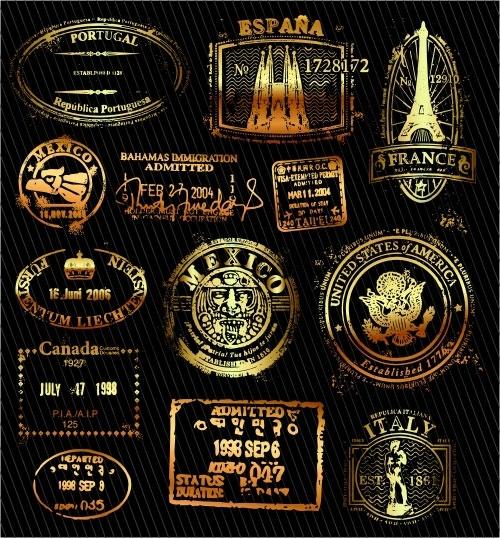 Classic gold imprint-02161205 Free CDR Vectors Art