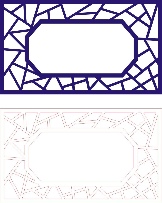 Laser Cut Seamless Panel Design-128 Free CDR Vectors Art