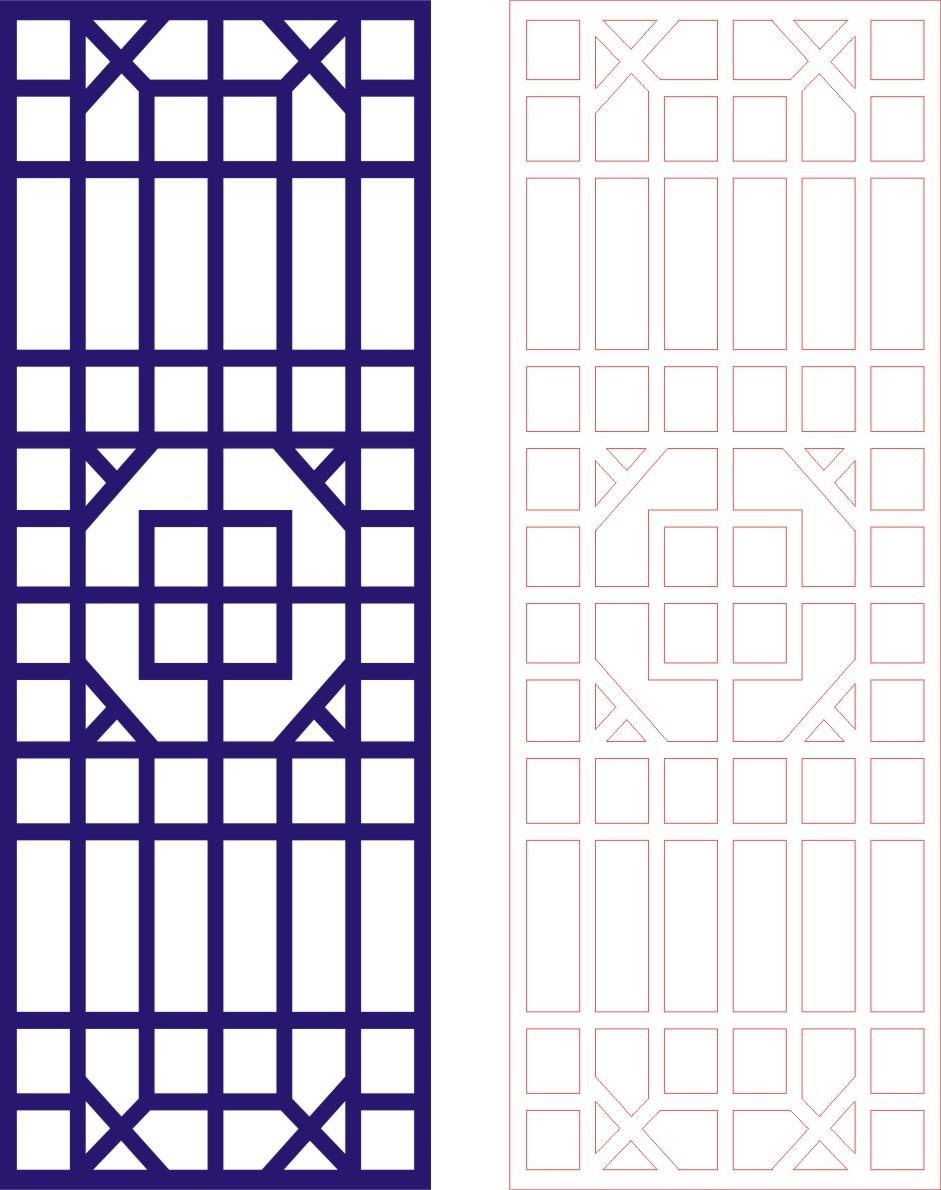 Laser Cut Seamless Panel Design -130 Free CDR Vectors Art