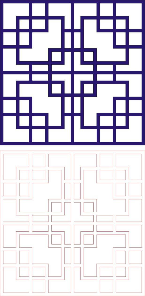 Laser Cut Seamless Panel Design -132 Free CDR Vectors Art