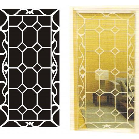 Cnc Panel Laser Cut Pattern File cn-h302 Free CDR Vectors Art
