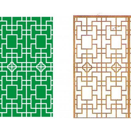 Cnc Panel Laser Cut Pattern File cn-h298 Free CDR Vectors Art