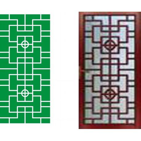 Cnc Panel Laser Cut Pattern File cn-h297 Free CDR Vectors Art