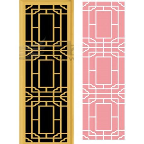 Cnc Panel Laser Cut Pattern File cn-h294 Free CDR Vectors Art