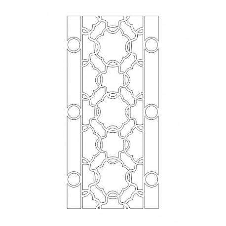 Cnc Panel Laser Cut Pattern File cn-h282 Free CDR Vectors Art