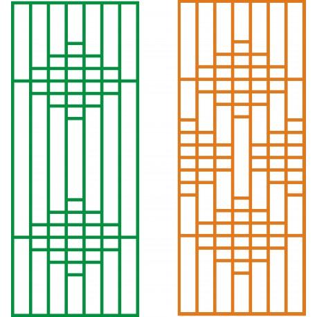 Cnc Panel Laser Cut Pattern File cn-h262 Free CDR Vectors Art