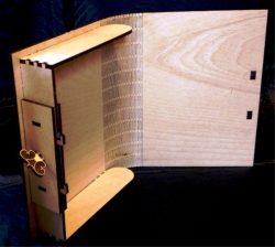 book-shaped Souvenir Box File Download For Laser Cut Free CDR Vectors Art