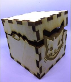 Box Cat File Download For Laser Cut Free CDR Vectors Art