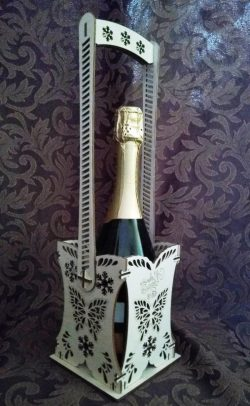 Box For Champagne File Download For Laser Cut Free CDR Vectors Art