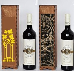 Box Of Snowflakes For Wine File Download For Laser Cut Free CDR Vectors Art