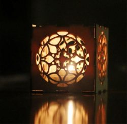 box-shaped Candle Holder File Download For Laser Cut Free CDR Vectors Art