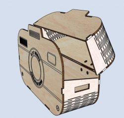 Camera Box File Download For Laser Cut Cnc Free CDR Vectors Art