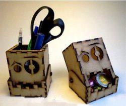Head Pencil Box File Download For Laser Cut Free CDR Vectors Art