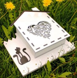 house-shaped Gift Box File Download For Laser Cut Free CDR Vectors Art
