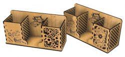 Pen Box File Download Laser Cut Free CDR Vectors Art