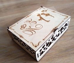 Wedding Gift Box File Download Laser Cut Free CDR Vectors Art