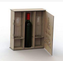 Box Caixa De Vinho File Download For Laser Cut Plasma Free CDR Vectors Art