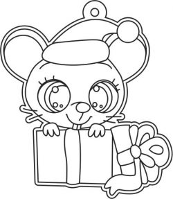 Mouse And Gift Box File Download For Printers Or Laser Engraving Machines Free CDR Vectors Art