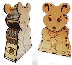 New Year Mouse Box File Download For Laser Cut Cnc Free CDR Vectors Art