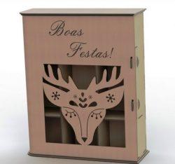 Reindeer Gift Box File Download For Laser Cut Plasma Free CDR Vectors Art
