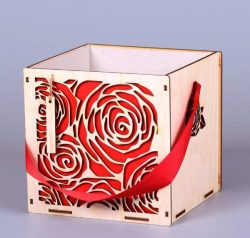 Rose Gift Box File Download For Laser Cut Cnc Free CDR Vectors Art