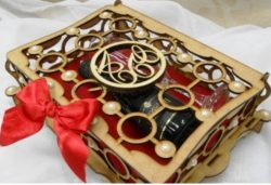 Wedding Souvenir Box File Download For Laser Cut Cnc Free CDR Vectors Art