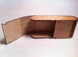 Wooden Box With Eyeglasses Free CDR Vectors Art