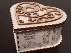 Wooden Heart Box File Download For Lasercut Cnc Free CDR Vectors Art