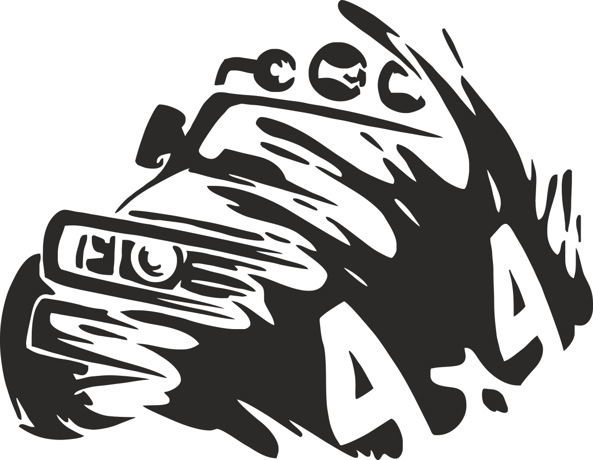 4×4 Truck Silhouette Sticker File Free CDR Vectors Art