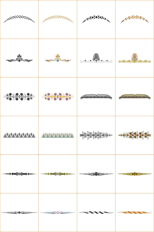 Design Ornamet Corners And Borders Set File Free CDR Vectors Art
