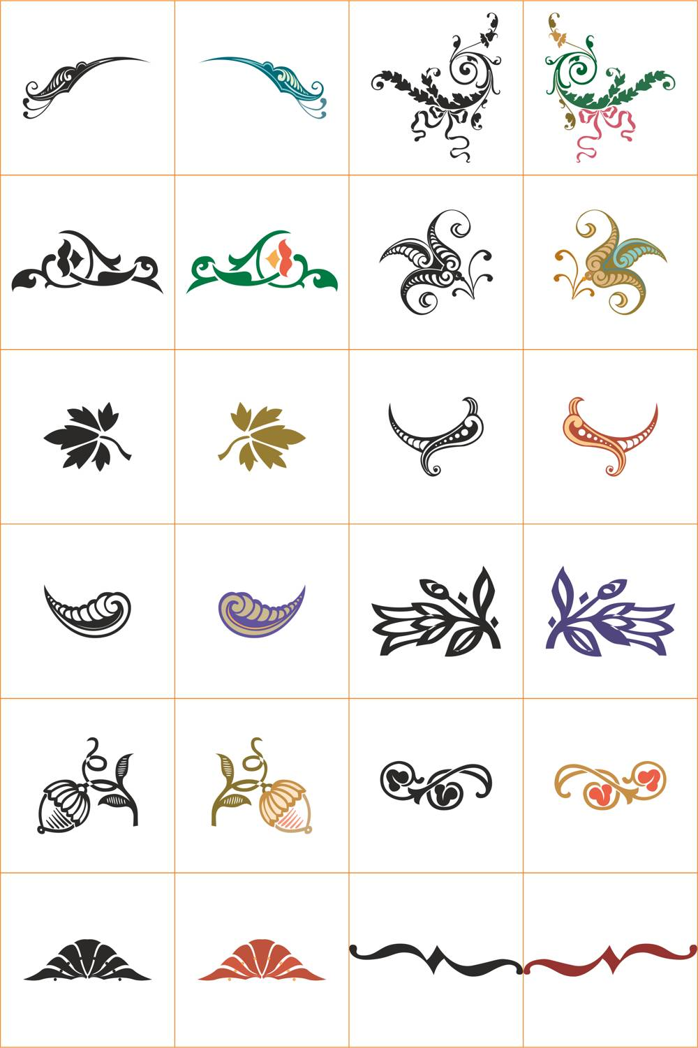 Floral Ornaments Collection File Free CDR Vectors Art