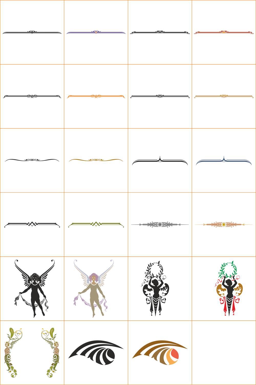 Frame Border Divider Collection File Free CDR Vectors Art