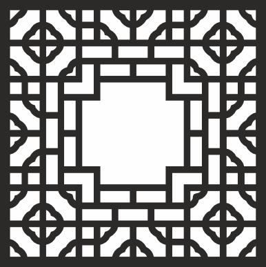 Geometric Pattern Square File Free CDR Vectors Art